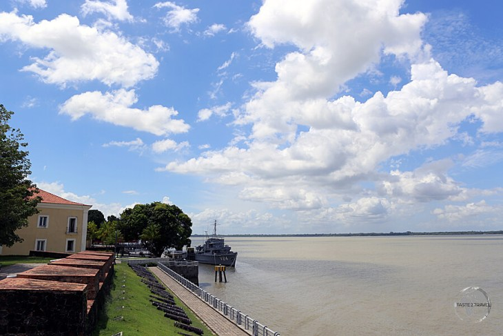 The Portuguese-built, Forte do Presépio, overlooks the Amazon river in historic Belém.