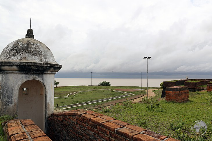 The Portuguese-built Fortalzeza de Sao Jose de Macapá stands at the mouth of the Amazon river at Macapá.