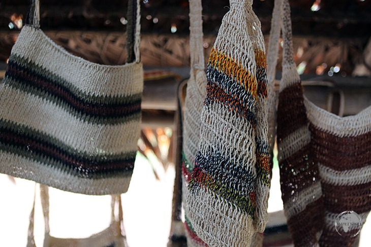 Handicrafts for sale at the Yagua Indian Village.