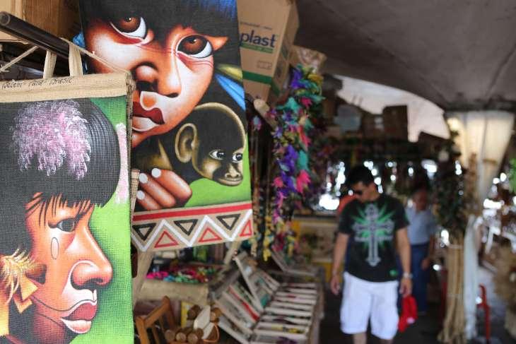 Souvenir stalls at the 'Ver-o-Peso' market in Belem.