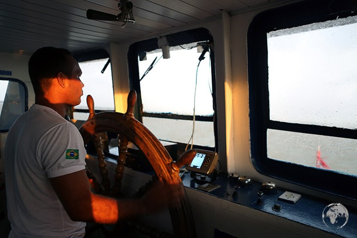 The captain of our Marajo Island to Belem ferry.