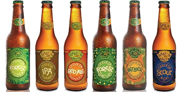 Craft beer range from the only craft brewery on the Amazon - Cervejaria Amazon Beer, Belem.