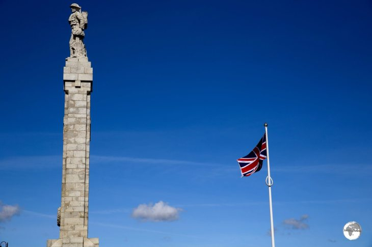 Made from Manx granite, the Douglas War Memorial is dedicated to those who lost their lives in WWI and WWII.