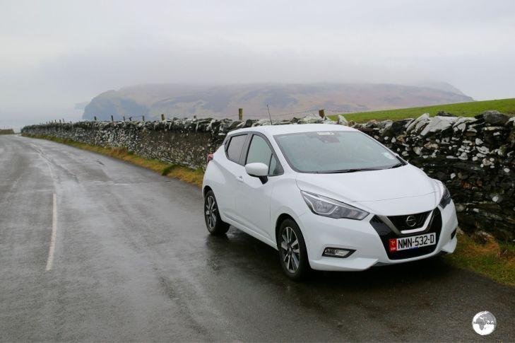 My rental car on the Isle of Man.