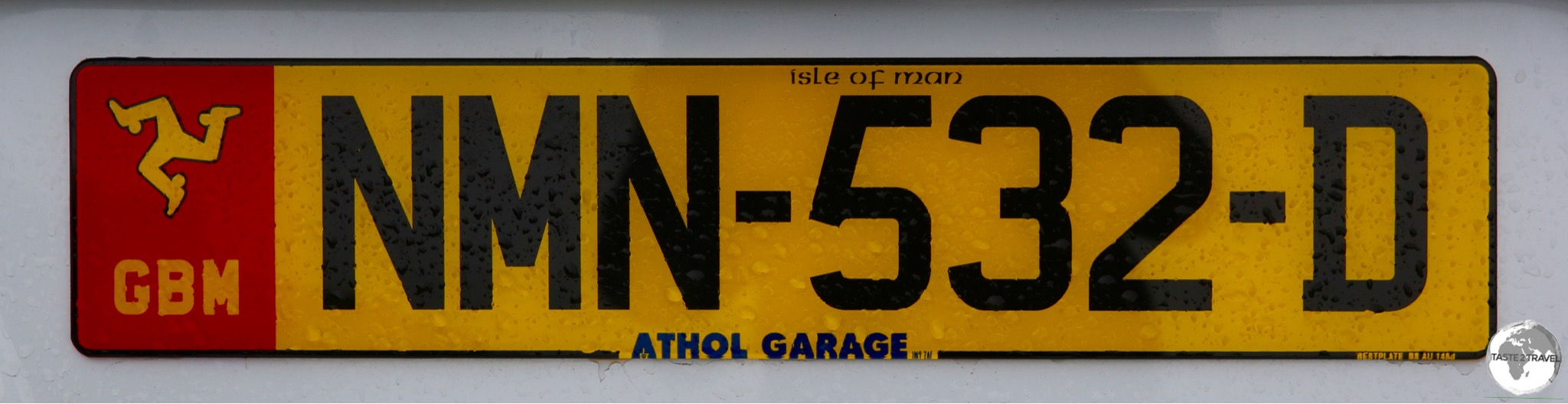 All Isle of Man number plates feature the 'Legs of Mann'.