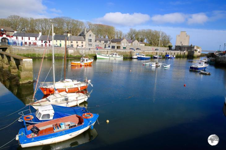 The scenic harbour in Castletown.