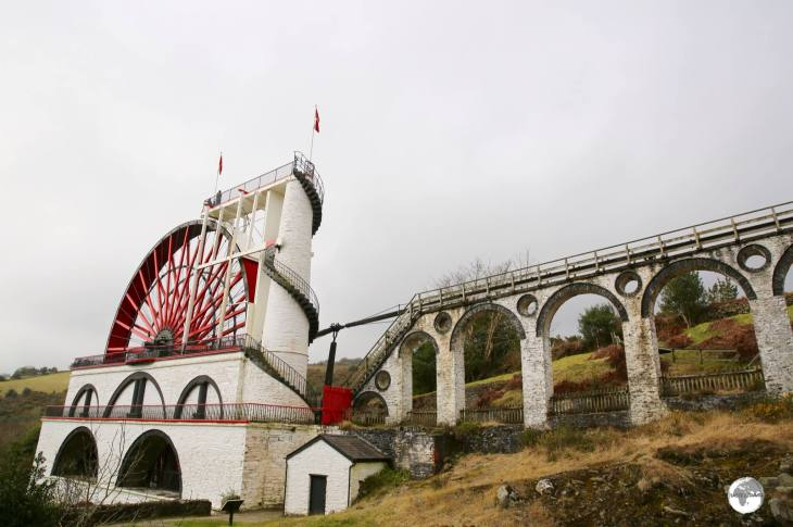 Originally used to pump water from a mine, the Great Laxey wheel is built into the hillside above the village of Laxey in the Isle of Man.