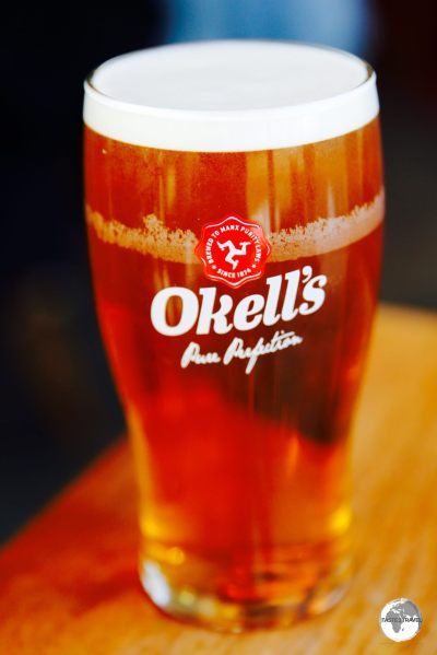 A pint of Okell's beer is a fine way to relax after a day of touring the Isle of Man.
