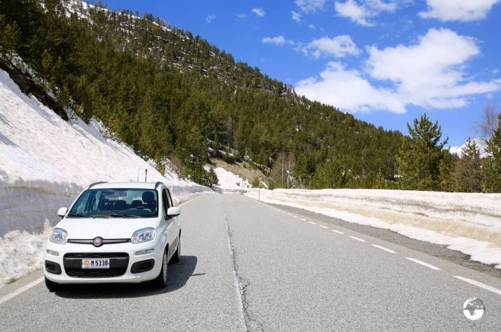 Exploring the Vallnord region in my zippy rental car from Goldcar rental.