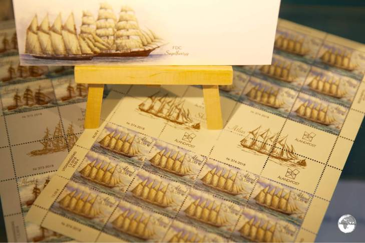 Maritime themes are popular on stamps from the Aland Islands.