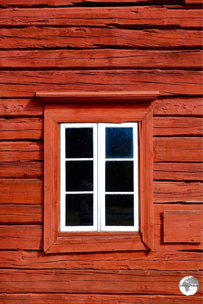 Detail of typical wooden building on the Åland Islands.
