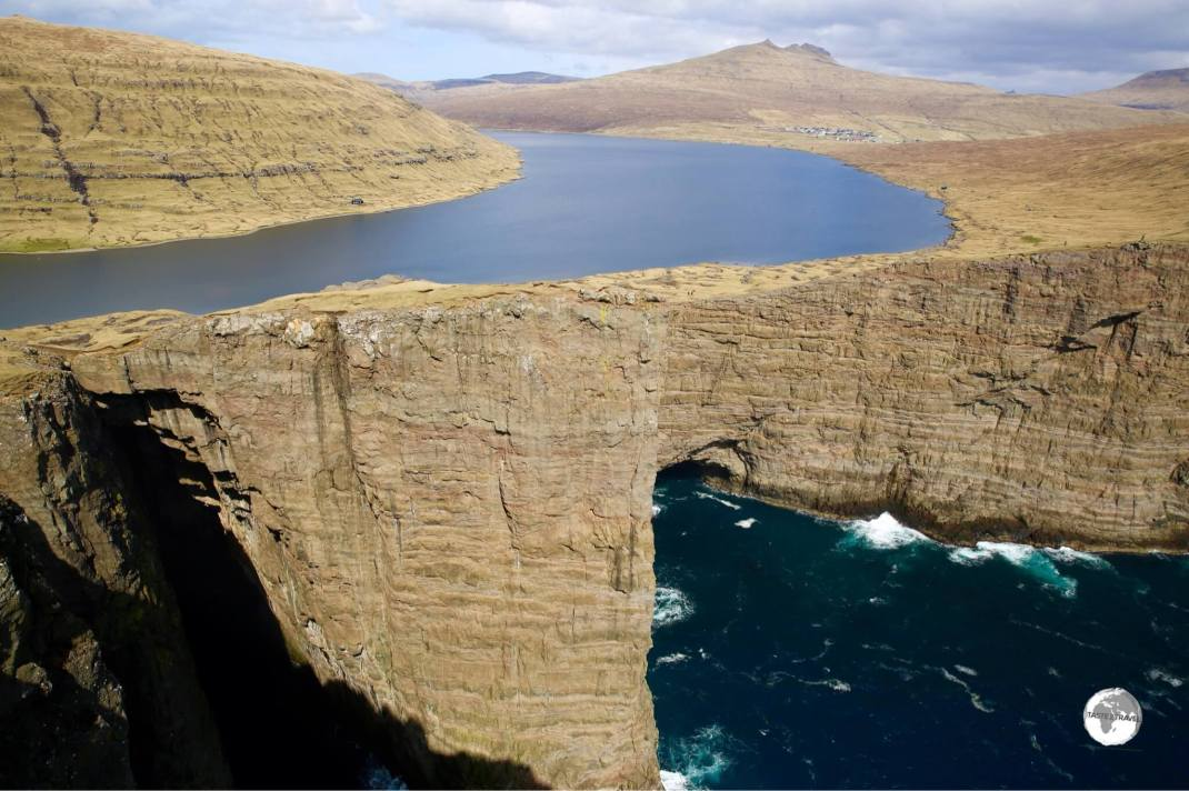 An incredible sight - Sørvágsvatn is the largest lake in the Faroes and occupies the most dramatic setting high above the Atlantic.