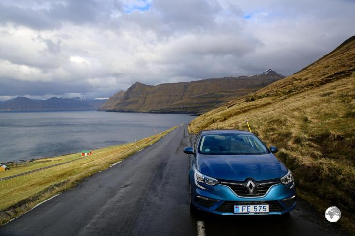 My rental car, which allowed me to maximise my time on the Faroe Islands.