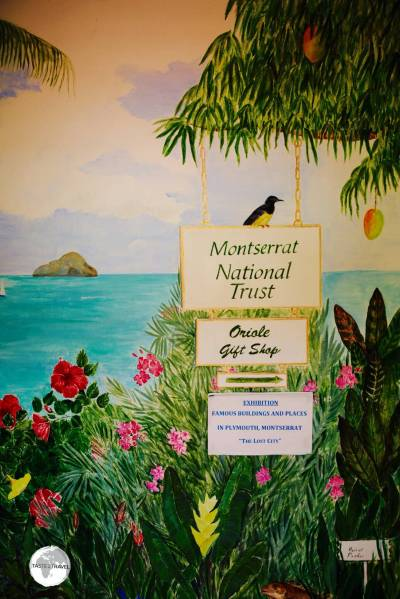 Artwork at the Montserrat National Trust.
