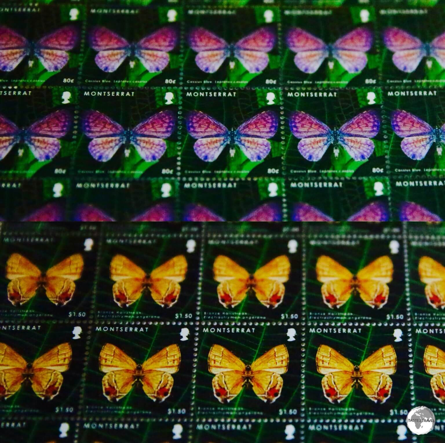 The colourful fauna and flora of Montserrat are favourite subjects for stamp issues.