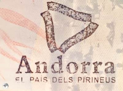Souvenir Passport Stamp, Andorra.