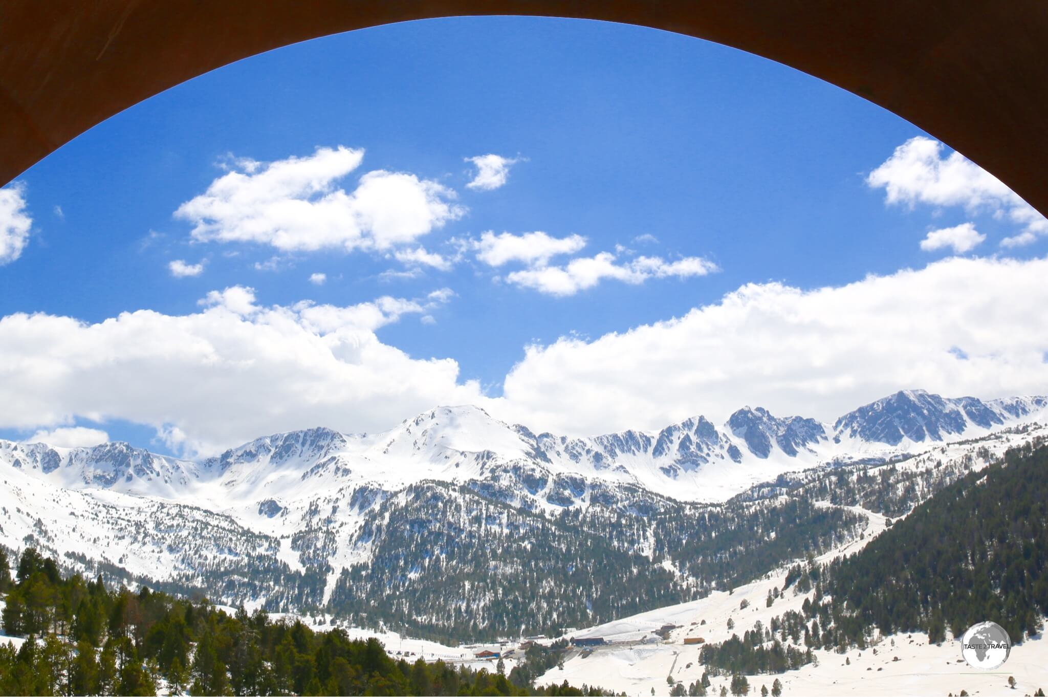 """A window onto the world"" - a view from route CG2 on the way to Pas de la Casa."