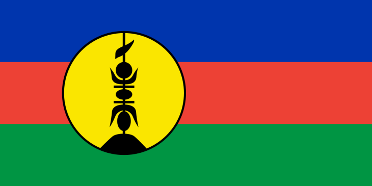 The flag of New Caledonia.