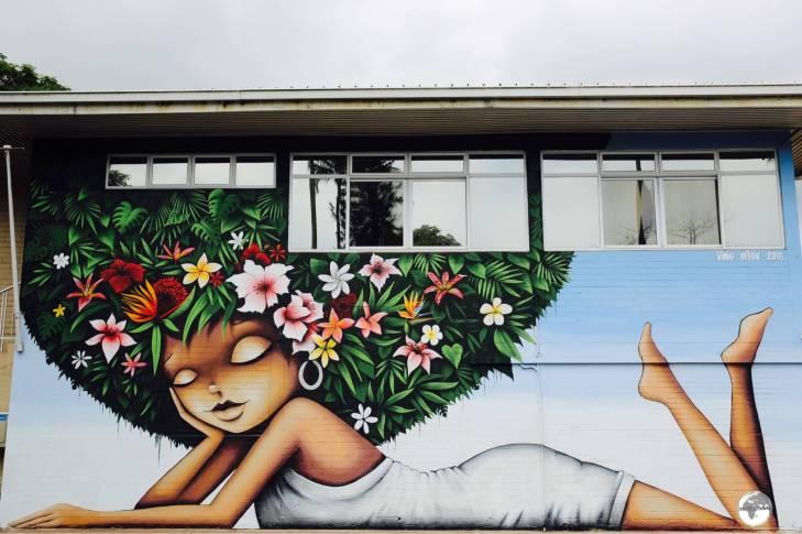 Funky street art in Papeete.