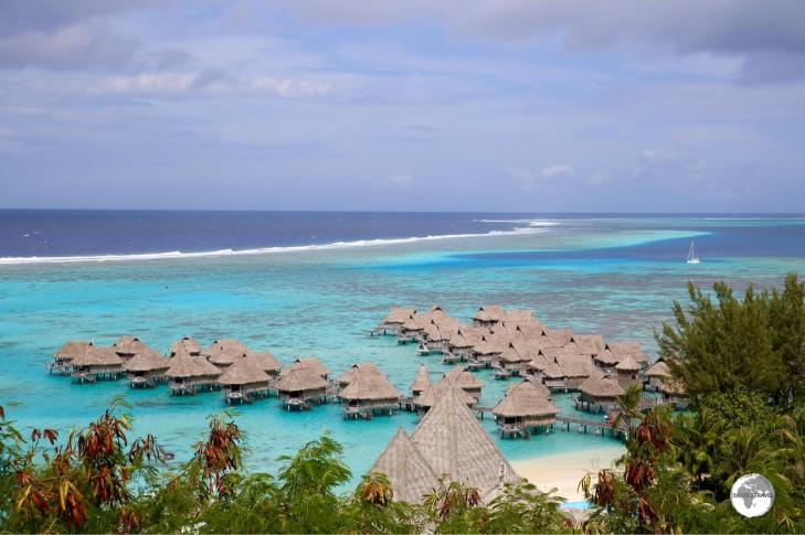 A view of the Sofitel Moorea resort and the stunning lagoon from the lookout,