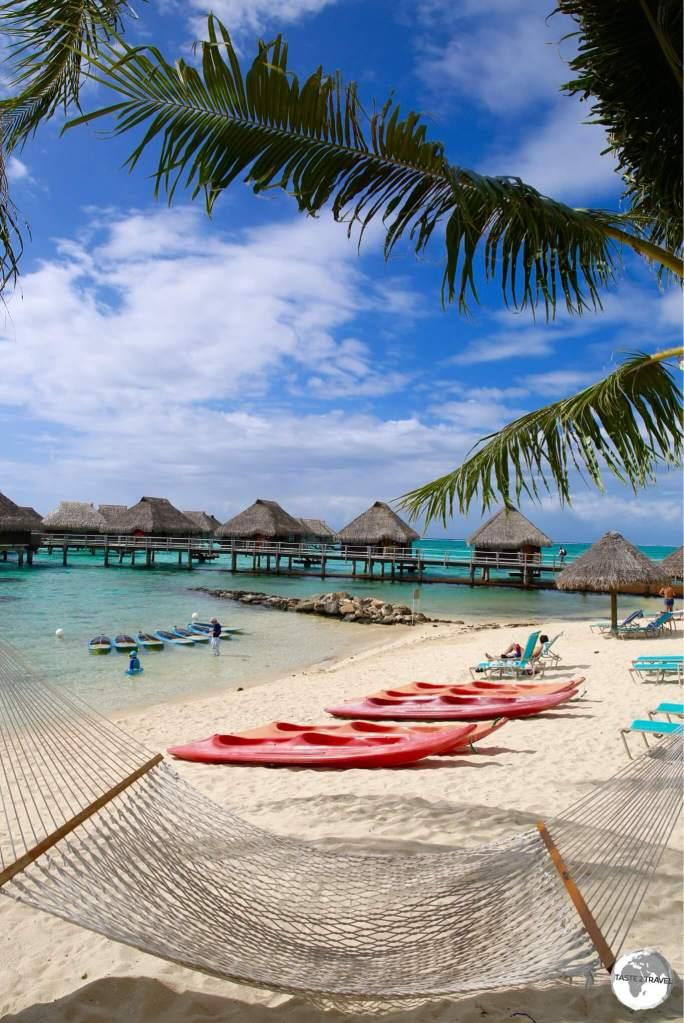 The Hilton Moorea Lagoon Resort.
