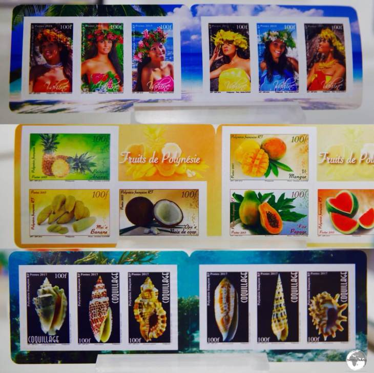 The colourful stamps of French Polynesia feature local culture, fauna and flora.