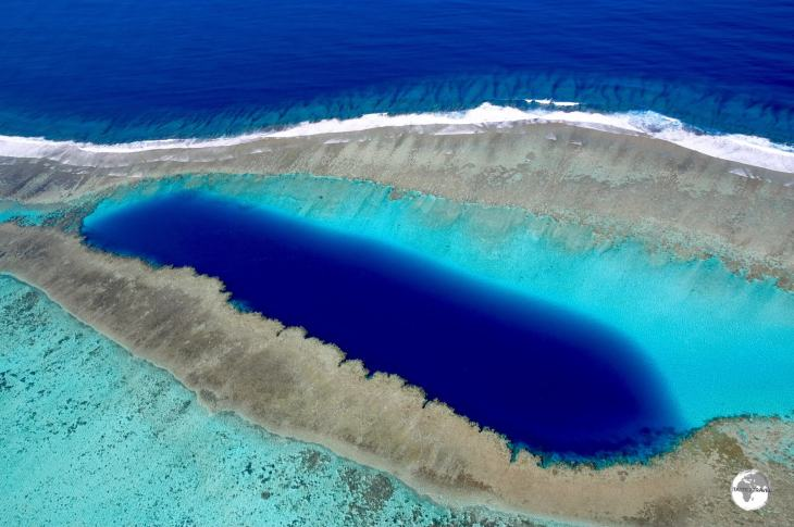 The 'Blue Hole of Voh' in New Caledonia, a French territory in the South Pacific.