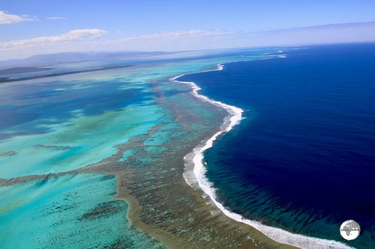 The Lagoon which surrounds La Grande Terre is the longest continuous barrier reef in the world and is UNESCO World-Heritage listed.