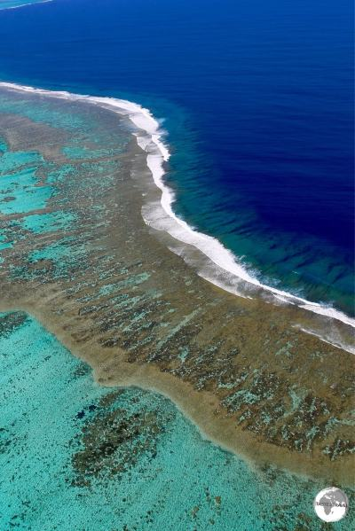 The reef which surrounds La Grande Terre is the second largest in the world, after the Great Barrier Reef of Australia.