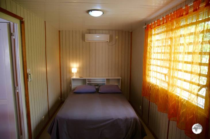 The bedroom of my shipping container guest house near Koumac.