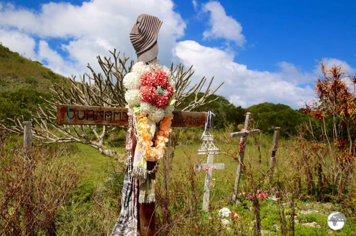Kanak cemetery on the Isle of Pines.