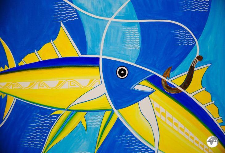 Artwork at the Solomon Islands Art Gallery in Honiara.
