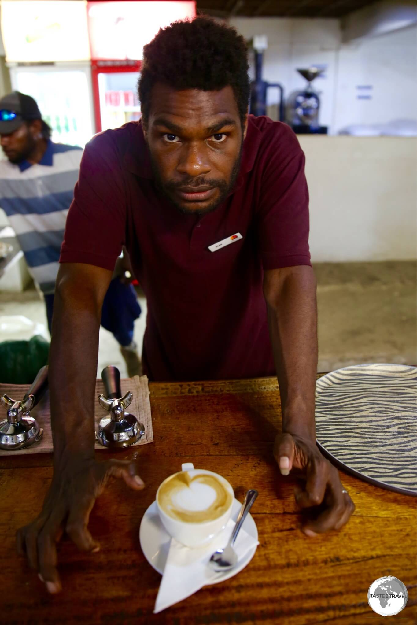 Amazingly fresh coffee served with a hint of friendly attitude at the Tanna Roasting Company.