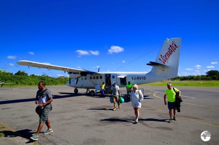 Arriving on Tanna Island.
