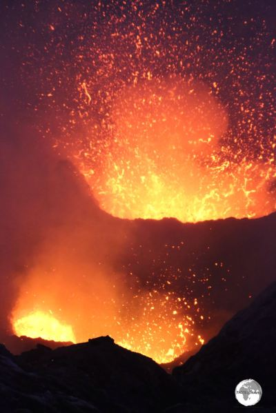 No shortage of loud explosions, volcanic-ash rain and sulfur gas clouds stinging your eyes.