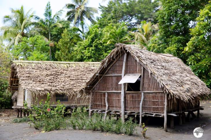 Traditional village housing on Tanna island.