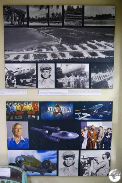 The 'Gene Roddenberry' display at the South Pacific WWII museum in Luganville.