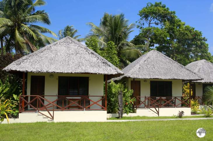 Bungalows at the Beachfront resort in Luganville.