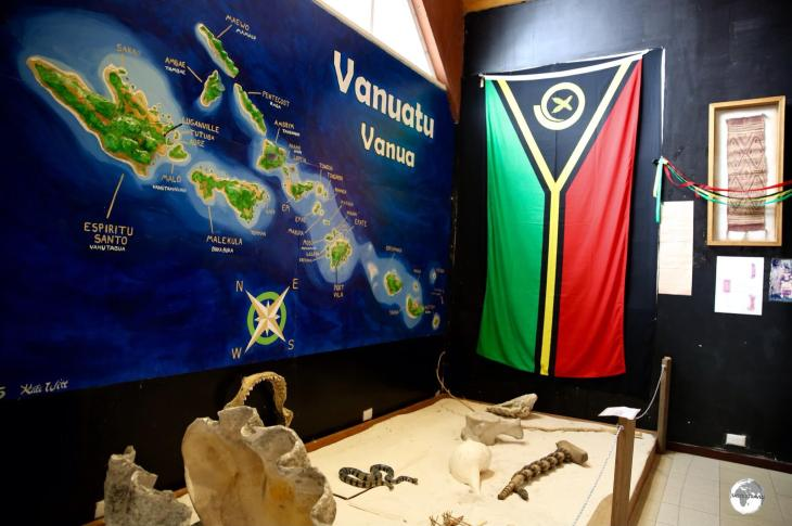 Vanuatu Travel Guide: A display at the National Museum of Vanuatu in Port Vila.