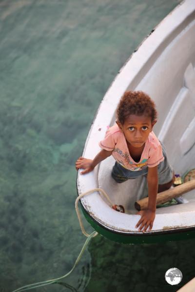 Waiting on the boat in Port Vila.