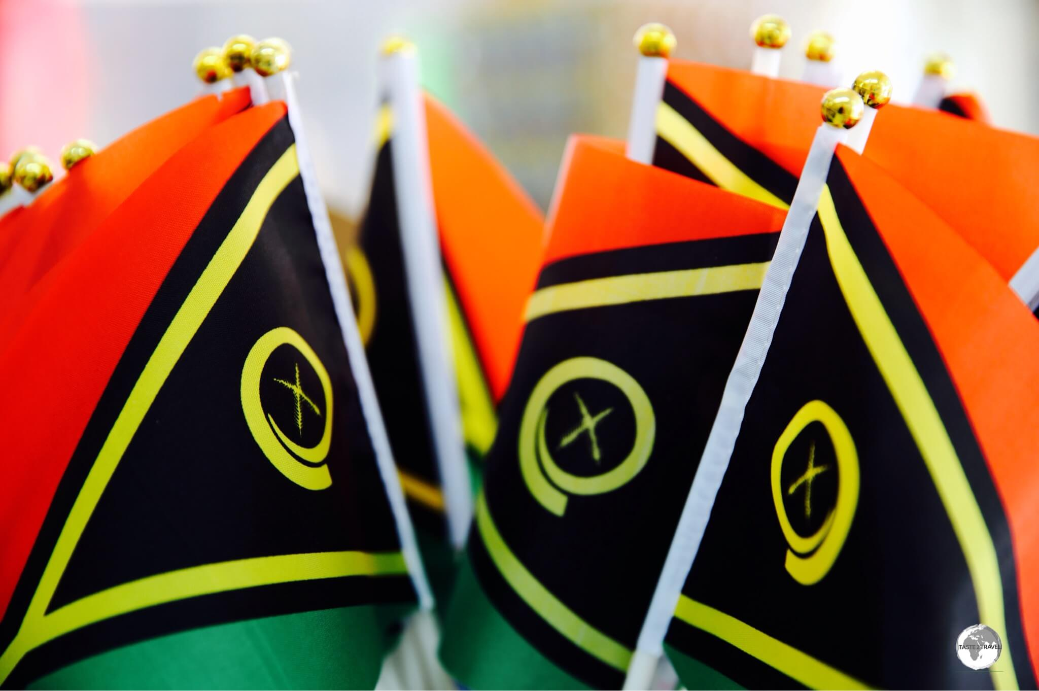 The flag of Vanuatu features a pig's tusk which is deemed sacred and was traditionally used as a form of currency.