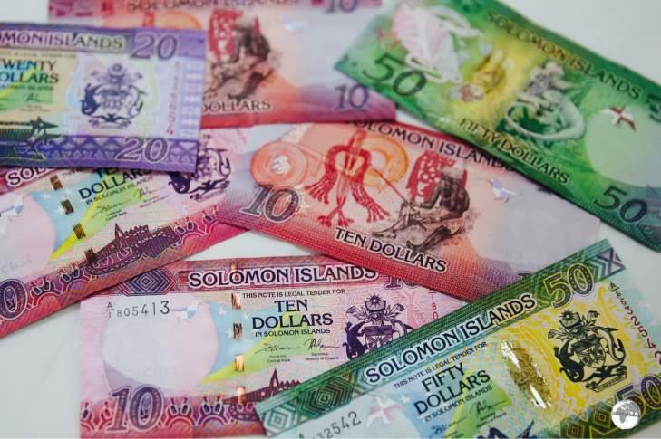 The colourful Solomon Islands dollar.