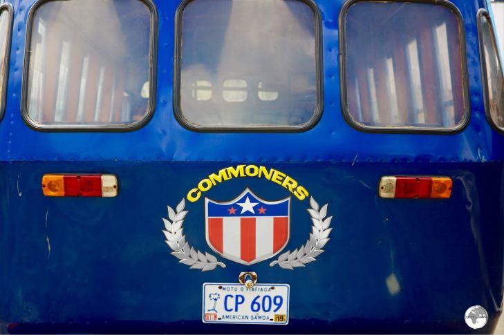 An 'Aiga' bus in Pago Pago.