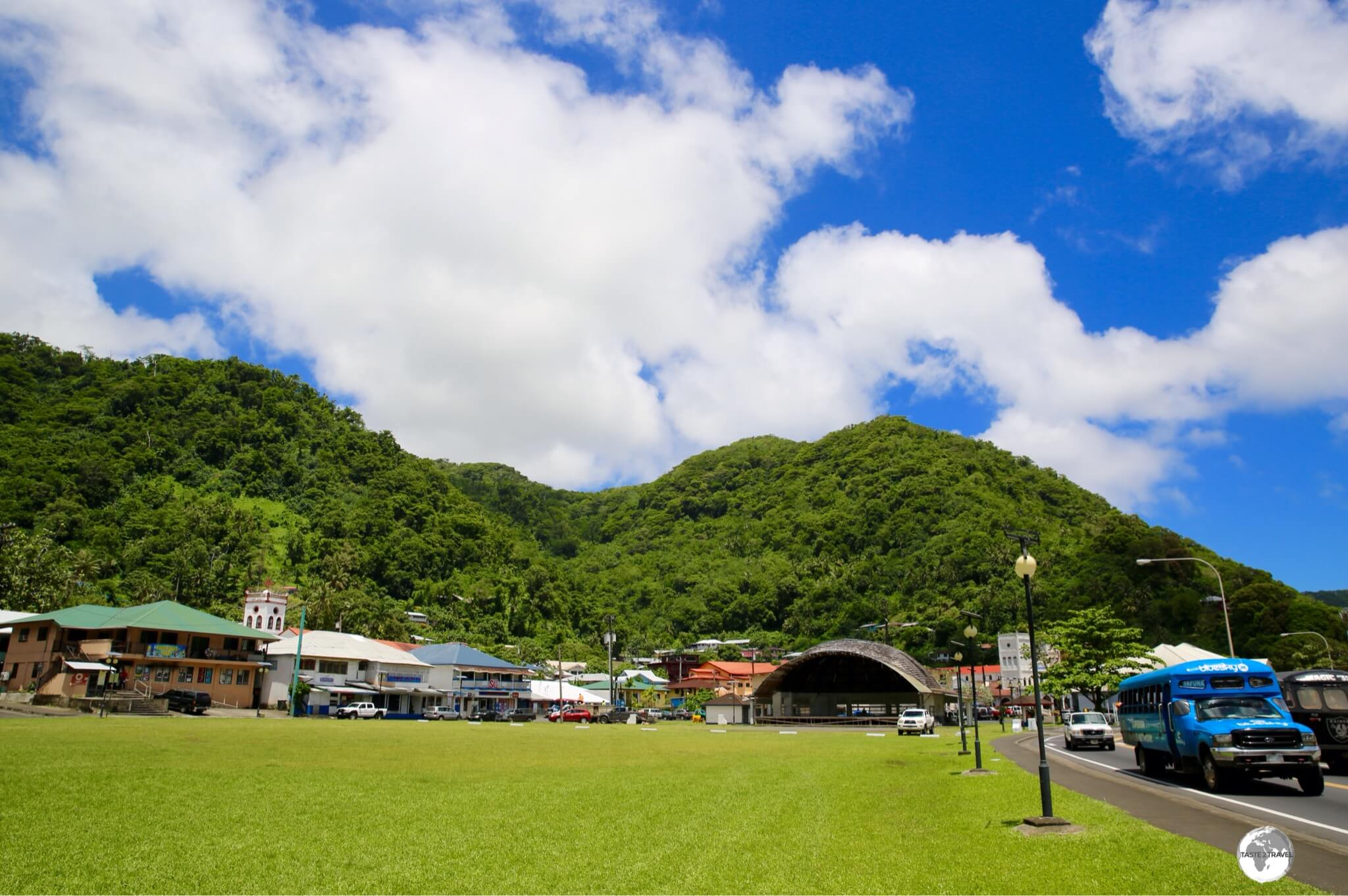 Downtown Pago Pago, the sleepy capital of American Samoa.