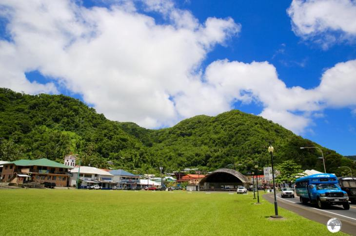 Downtown Pago Pago, the capital of American Samoa.