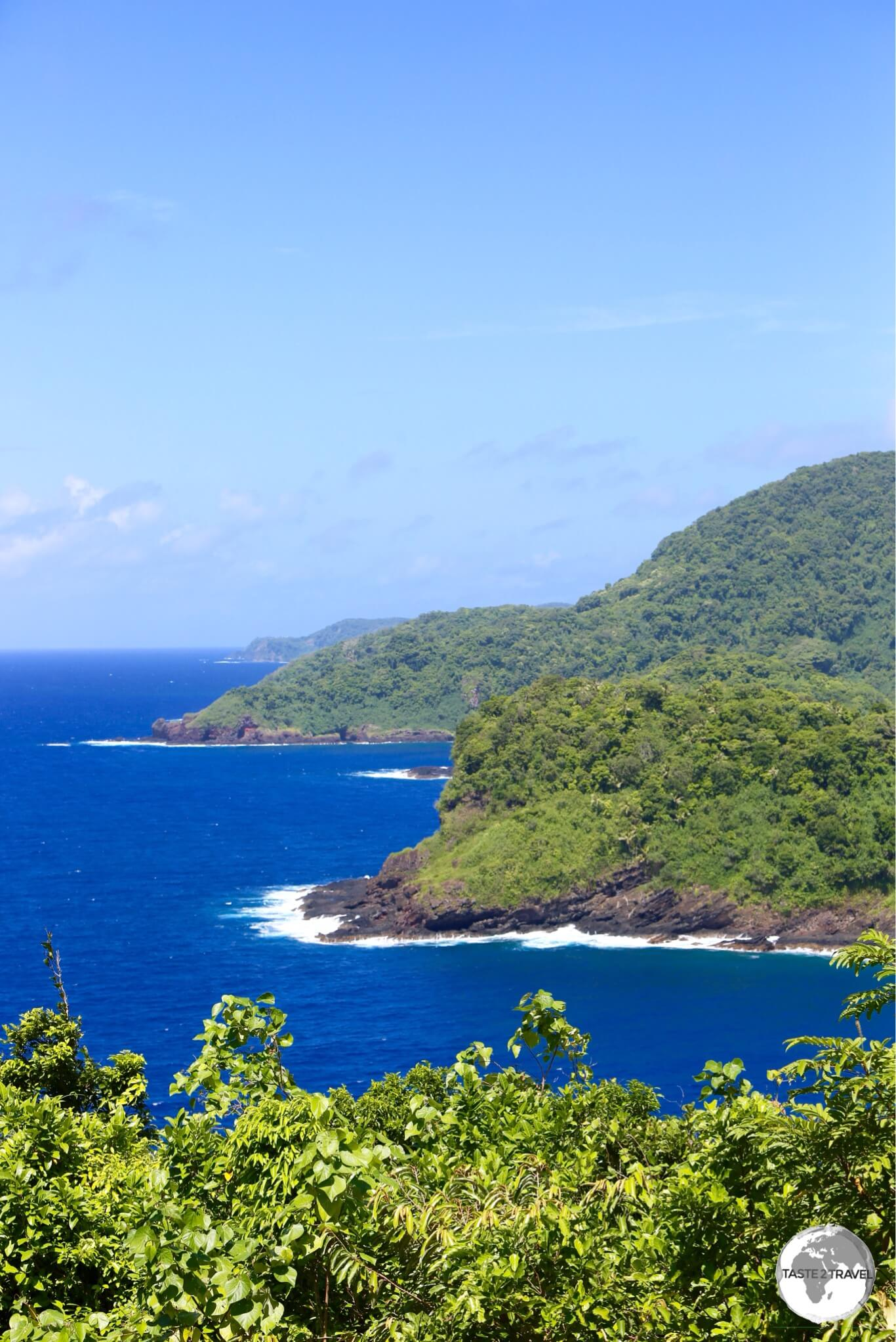 A view of the north coast of Tutuila, part of the National Park of American Samoa.