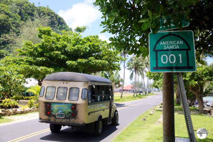 Route AS001 runs along the southern shore of Tutuila, connecting the capital with all villages on the island.