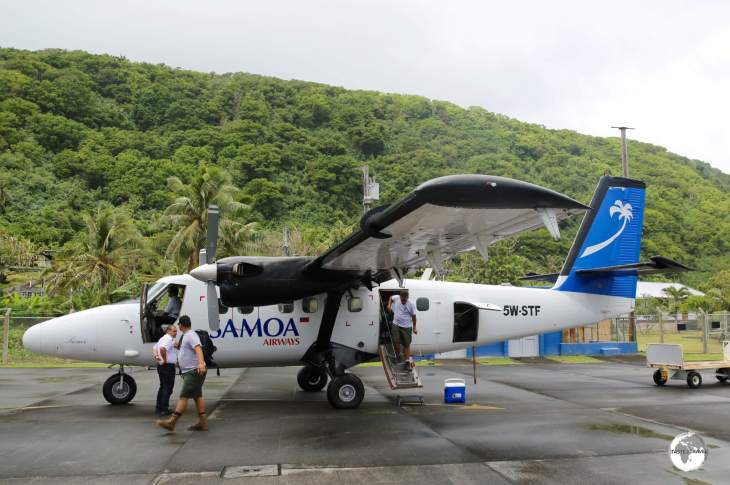 Arriving on Ta'u with Samoa Airways who provide all domestic flights in American Samoa.