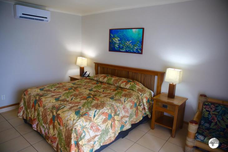 My comfortable room at 'Sadie's by the Sea' in Pago Pago.