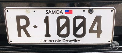 Samoan license plate.